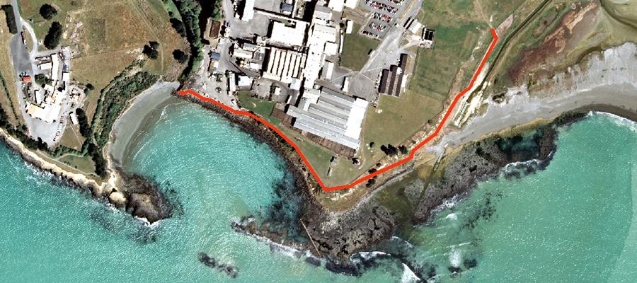 Asbestos-contaminated coastal walkway in Timaru remains close
