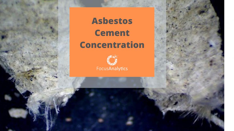 Asbestos Cement Concentration