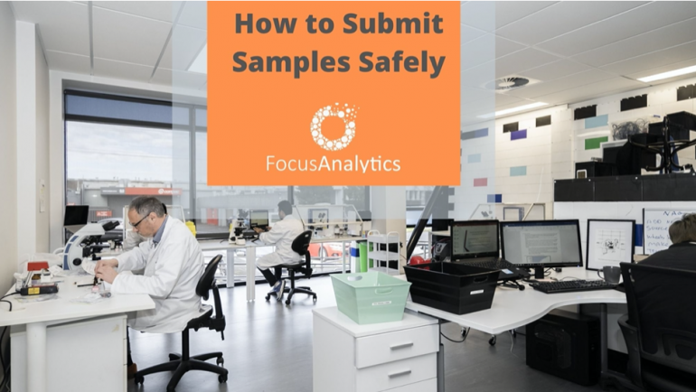 How to submit samples safely